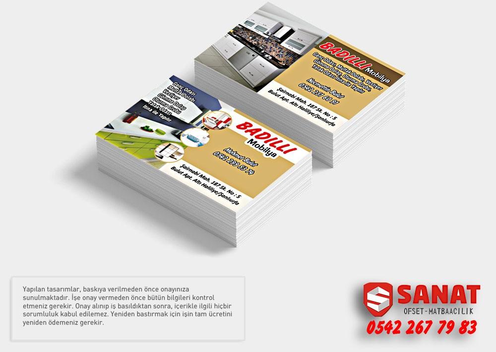 Kartvizit Urfada özel Kalın Kart Ucuz Kartvizit  mobilyacı kartı
