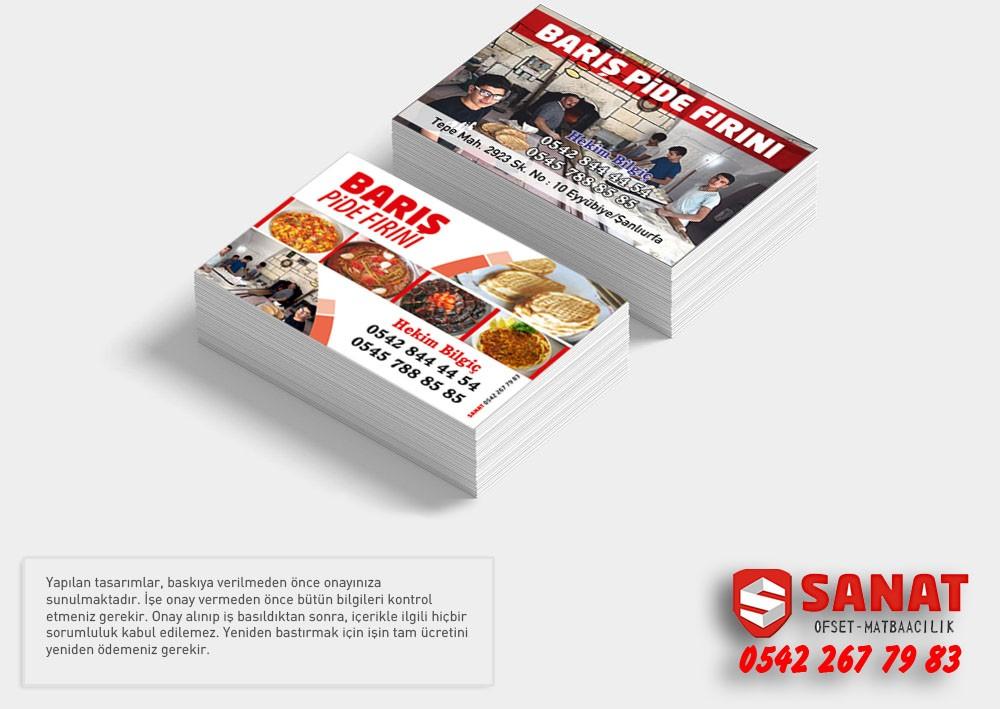 Kartvizit urfa ucuz kart Urfada özel Kalın Kart Ucuz Kartvizit  kartvizitçi ekmek fişi