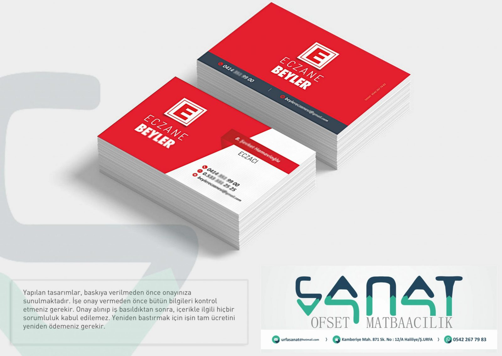Eczane Kartvizit eczacı kartı urfa kartvizit urfada matbaa urfa matbaacı eczane tasarım kart Kartvizit Urfada özel Kalın Kart Ucuz Kartvizit