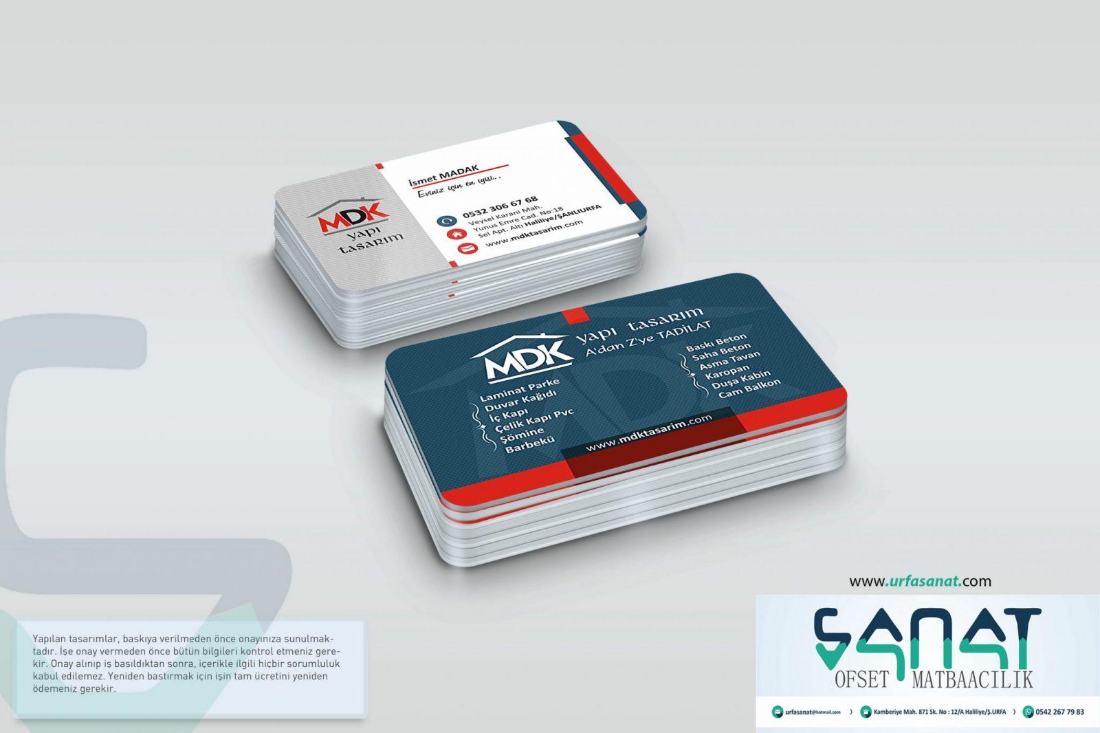 Kartvizit özel Kalın Kart Ucuz Kartvizit Urfa Matbaa urfada özel kartvizit basan matbaa