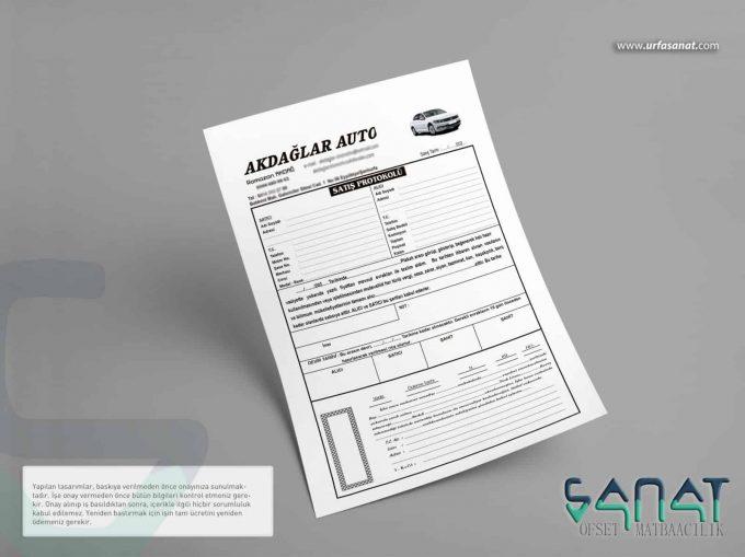 oto satış sözlesmesi urfa oto satış kiralama sözleşme protokol urfa matbaa